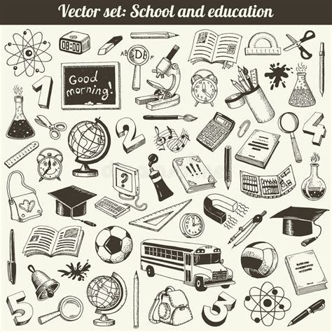 education doodle vector free school and education doodles vector royalty free stock