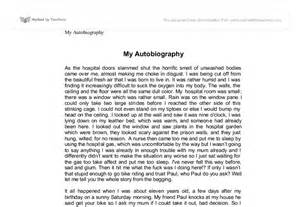 My autobiography creative writing university subjects allied to