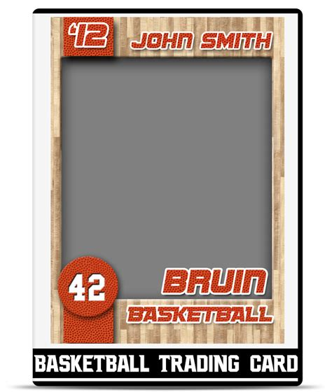 basketball trading card template teamtemplates