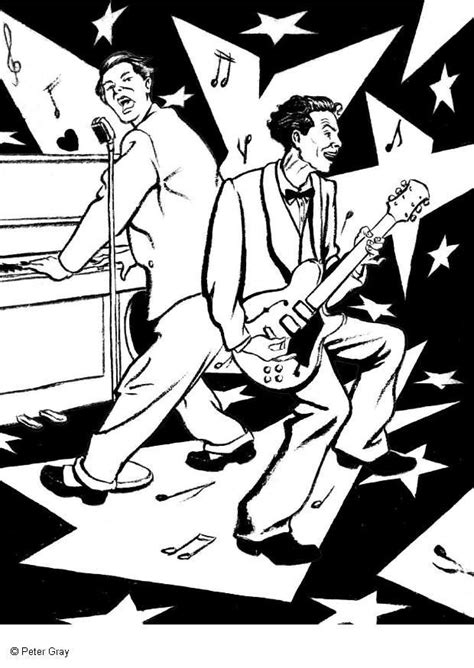 free coloring pages of rock rock and roll