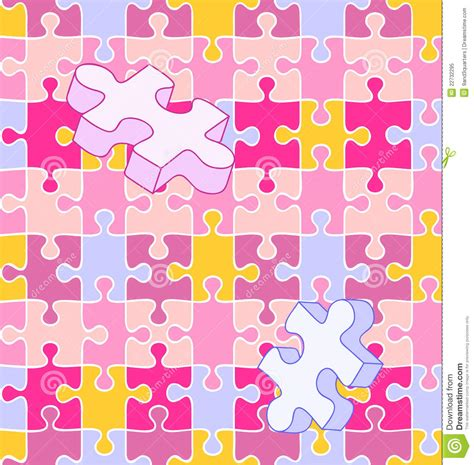 puzzle pattern illustrator seamless wall to wall autism puzzle pattern stock vector