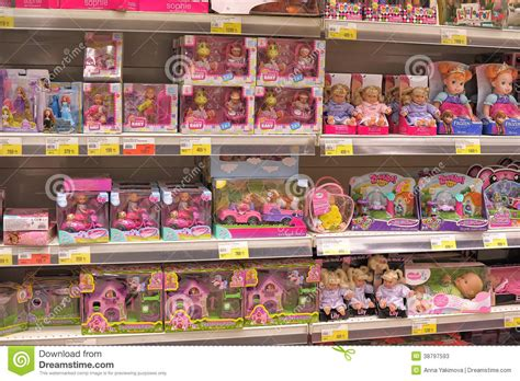 On A Shelf Stores by Interior Children Toys Shop Editorial Stock Photo Image