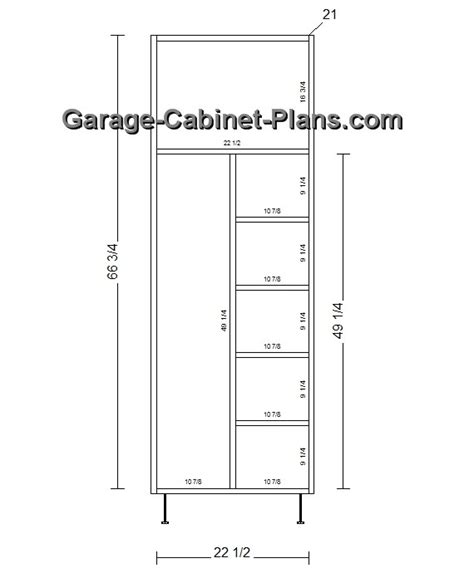 Closet Cabinet Plans by Utility Cabinet Plans 24 Inch Broom Closet Garage