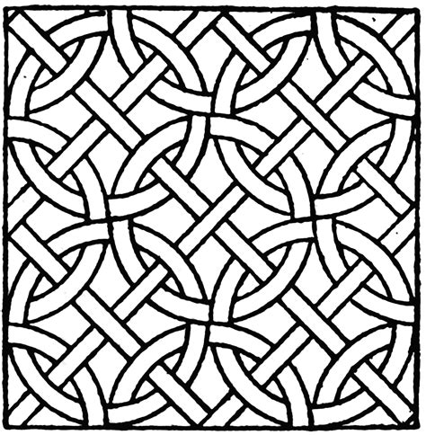 coloring page patterns mosaic patterns coloring pages coloring home