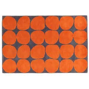 Rug Pile Height Guide Ink Spot Rug Orange The Land Of Nod