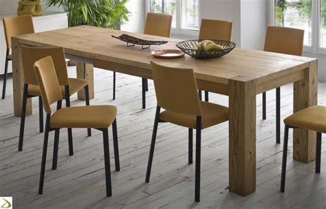 tavolo allungabile in legno tavolo in legno massello arredo design