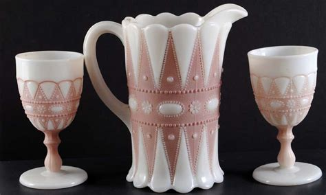 happy new year milk glass pitcher id needed antiques board
