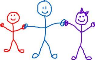 Stick figure children clip art free