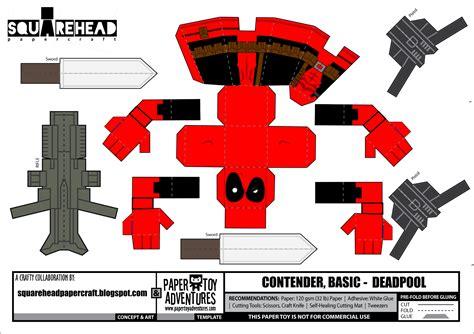 Minecraft Papercraft Deadpool - downloads marvel universe 171 papertoyadventures