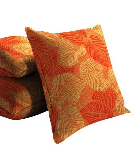 leaf pattern cushions skipper orange leaf pattern cushion cover set of 3 16x16