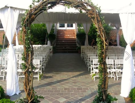 Wedding Arch Between Trees by Planting New Roses A Farmhouse Reborn