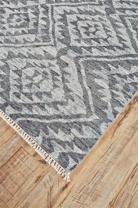 Hand Knotted Transitional Graphite Rug Orange County Rugs Rugs Orange County
