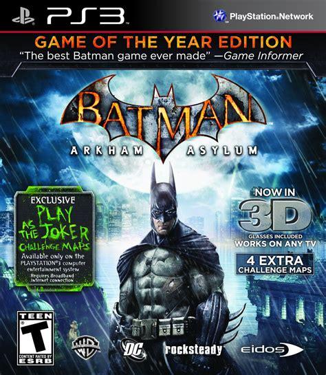Ps4 Batman Arkham Of The Year Edition Goty batman arkham asylum of the year playstation 3