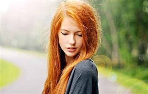 Orange Girlset orange hair photography image 454511 on favim