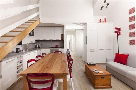 cucina con sala da pranzo salotto con cucina a vista e zona pranzo moderno sala