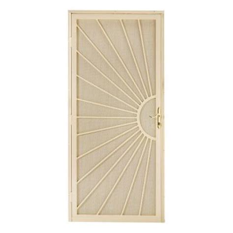 home depot security doors alert 36 in x 80 in somerset steel navajo white