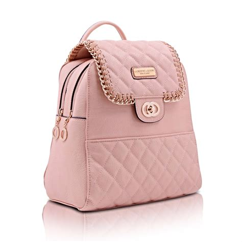Girly Backpack pink backpacks quilted fashionable backpacks colette green