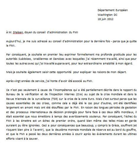 Lettre De Remerciement Membre Conseil D Administration Exemple De Lettre De Demission D Un Conseil D Administration