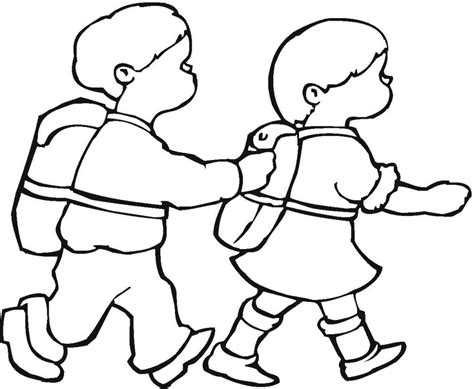 kid clipart black and white walking clipart black and white clipground