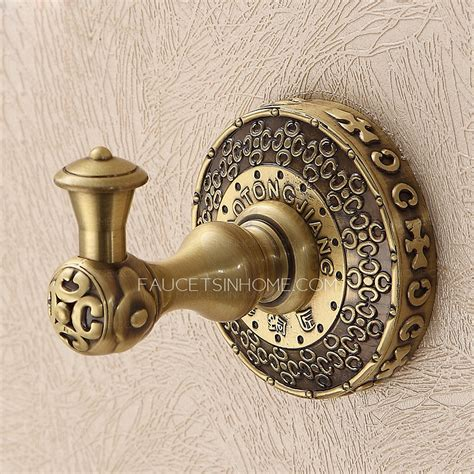 antique bronze bathroom accessory single robe hooks