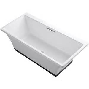 kohler reve 5 5 ft porcelain enameled cast iron flat