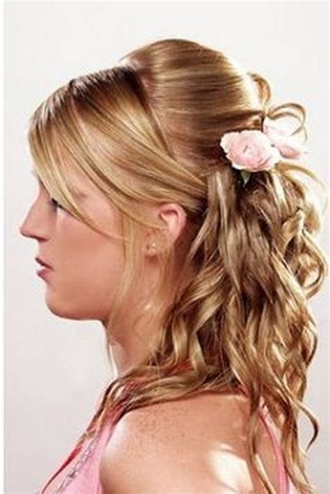 formal hairstyles with curls prom hairstyles curly half up