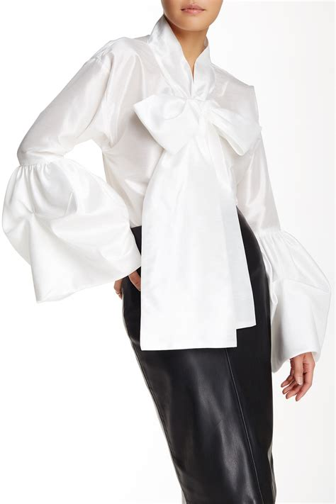 Slevee Bow Blouse Tov Bell Sleeve Bow Tie Blouse Nordstrom Rack