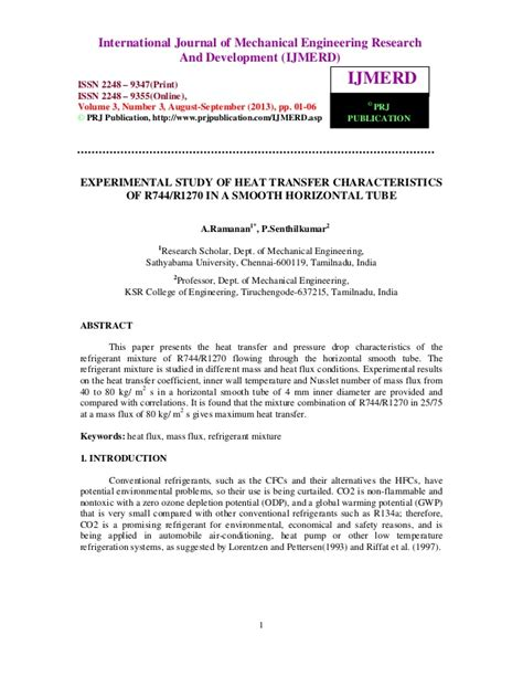 heat transfer research papers research papers on mathematical modelling research paper