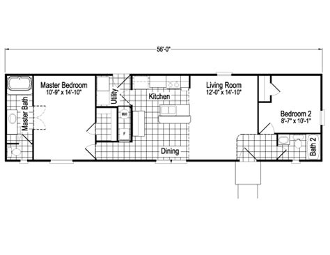 cabana plans the cabana sm16562c manufactured home floor plan or