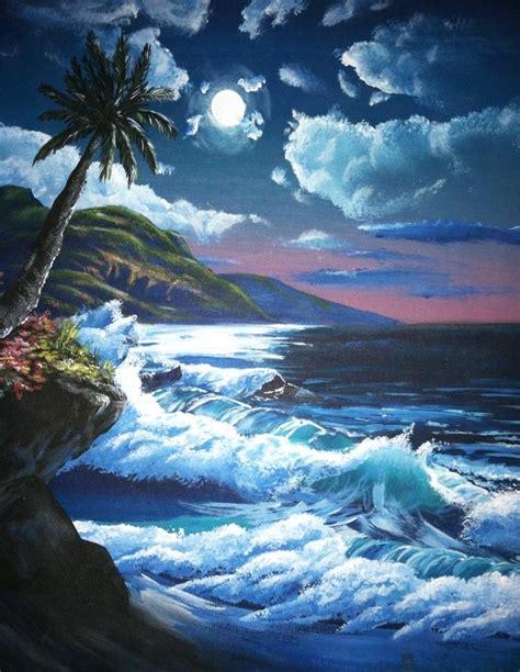 bob ross painting seascape sorensen artist the blue bottle tree