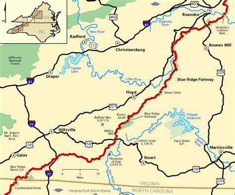 blue ridge parkway virginia map blue ridge parkway va southern section america s byways