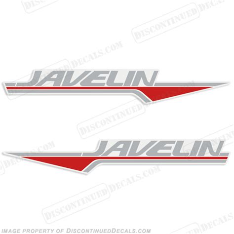 triton boats discontinued javelin boat decals set of 2 2 color