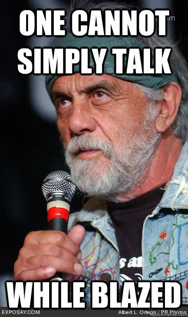 One Cannot Simply Meme - one cannot simply talk while blazed tommy chong meme