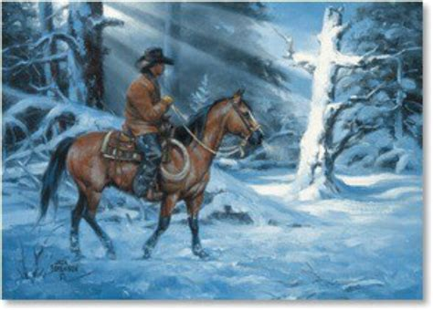 cowboy christmas western art pinterest