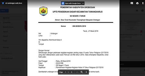 contoh surat undangan rapat waliorang tua murid tk sd smp