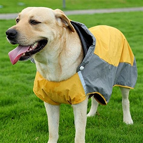 Jaket Huskies Abu bolbove big hooded raincoat slicker poncho waterproof jacket for medium to large dogs