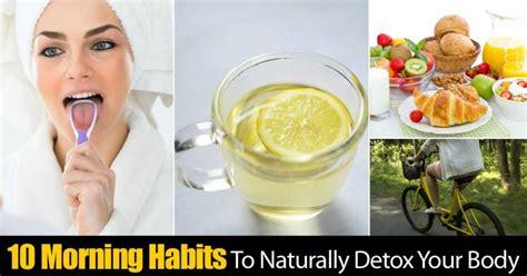 morning habits  naturally detox  body