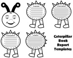 First Grade Book Report Templates caterpillar book report project templates worksheets