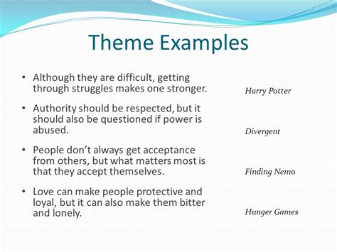 theme exles powerpoint character conflict theme ppt download