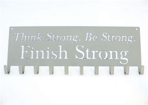 Medali Hanger Finish Strong Silver think strong be strong finish strong medal hanger