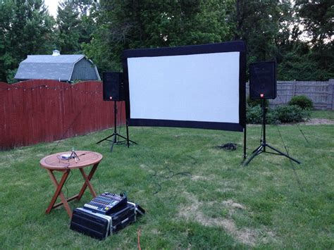 backyard projector screen outdoor movie projector and screen rooms to rent for