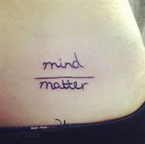 mind over matter tattoos quot mind matter quot pelvis