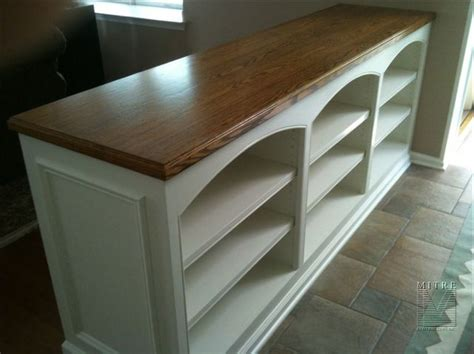 built ins sided built in half wall bookcase