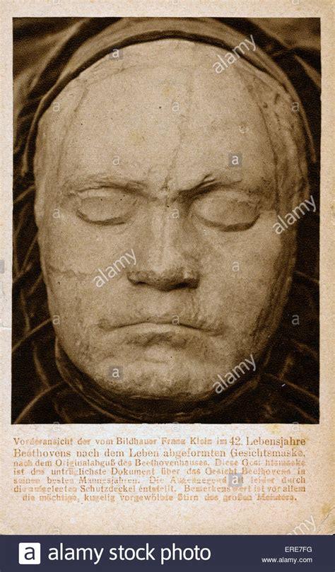 beethoven biography in deutsch ludwig van beethoven life mask by franz klein taken 1812