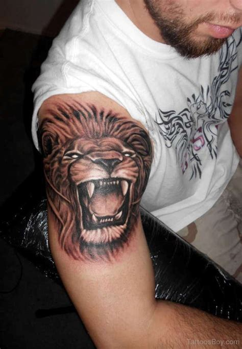 lion tattoo on arm tattoos designs pictures page 16