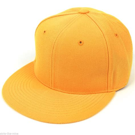 new fitted baseball hat cap plain basic blank color flat