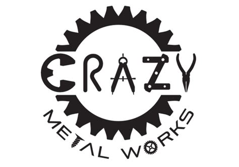 design a metal logo crazy metal works austin web design