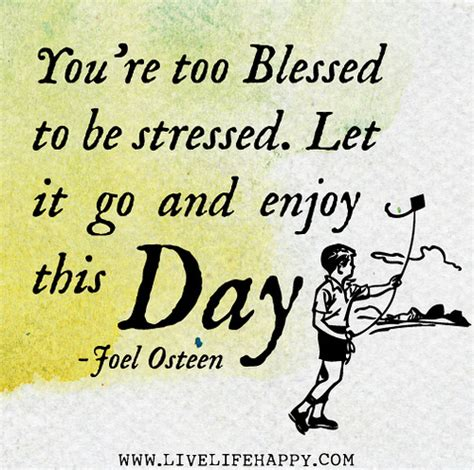 Wall Stickers Bible Verses you re too blessed to be stressed let it go and enjoy thi