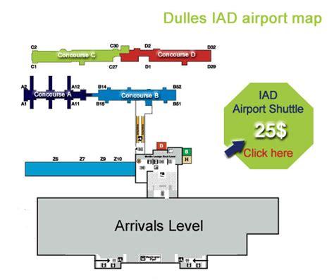 iad airport map iad washington map