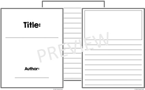 printable blank book template 4 best images of printable booklet template free